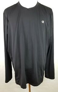 Champion mens 2XL black double dry fit long sleeve athletic shirt