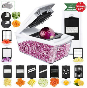Collupsa Onion Chopper Pro Mandoline Slicer Dicer 13 in 1 Adjustable Food Heavy
