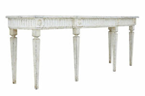 LARGE LATE 19TH CENTURY PAINTED CONSOLE TABLE