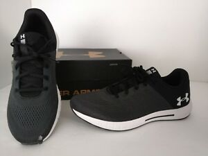 Under Armour 11 Men's Gray Black Micro G Pursuit Running Shoes