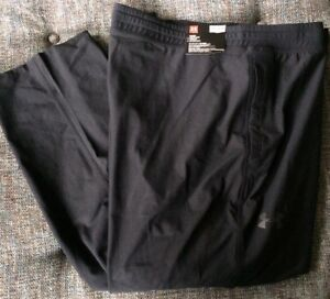 NWT Under Armour Taper Fitted Sweatpant Men's 5XL Big & Tall Black MSRP$90 S8