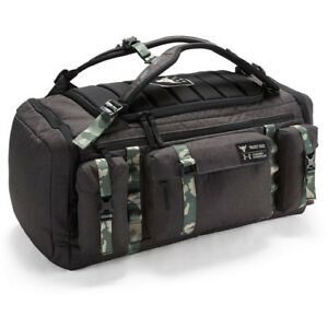 Under Armour Project Rock USDNA Range Duffle Bag Backpack Black Camo NEW