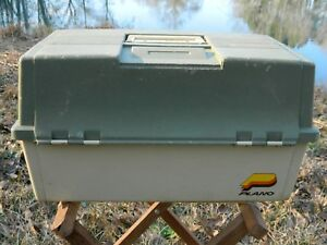 Vintage Tackle Box for Fishing Lures 6 Tray Double Sided Made In USA Plano 8606