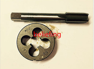 HSS Machine M12X 0.5mm Plug Right Tap and 1pc M12X0.5mm Right Die Threading Tool $12.99