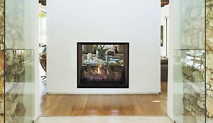 SUPERIOR DRT63ST Direct Vent See Thru Gas Fireplace Clean Face Design 2 Sided
