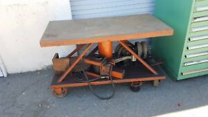 LIFT TABLE HYDRAULIC (DIE)  2000 lb  cap.