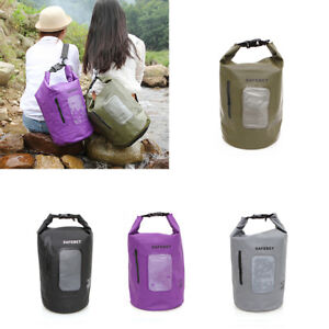 Waterproof 15L Dry Bag Canoe Kayak Boating Camping Swimming Hiking Sack Bag JDF