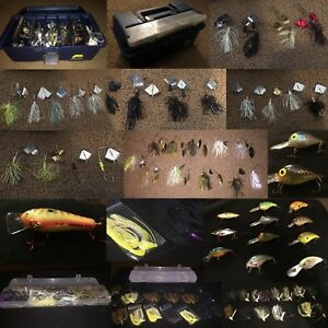 Huge Bass Fishing Tackle Assortment - 75+ total (buzzbaits spinnerbaits jigs)