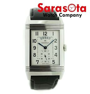 Jaeger LeCoultre Grand Reverso Duo 274.8.85 Limited Alligator Men's Watch 32x45