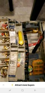 tackle box Fully Loaded 100+ Lures + Brand new ugly stick