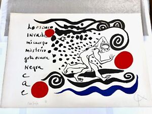 Alexander Calder Lo Oscuro Invade mi Cuerpo Signed and Numbered by Artist