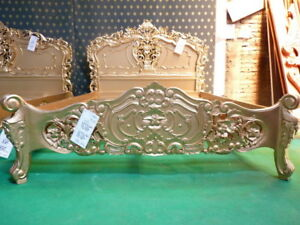 5'  UK  King size  GOLD designer Baroque french style Rococo oriental Bedframe