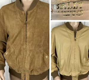 Vintage Bally Of Switzerland Leather Jacket Reversible Bomber Retro Men 40 Italy