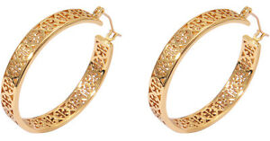 Tory Burch Kinsley LargeSmall  Logo Hoop Earrings Gold