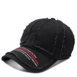 Men Women Letters Embroidery Retro Making Old Washed Baseball Cap Outdoor Fashio