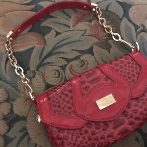 Kathryn Robbins Soft Red Reptile Leather Handbag