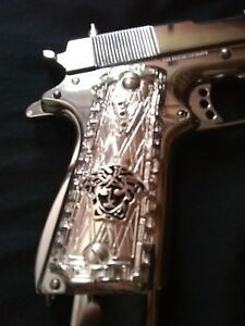 1911 Colt Full Size Governmnt Solid .925 Sterling Silver Cachas Grips Plata Pura