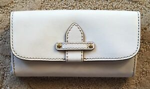 Nwt Women's FRYE Casey Leather Wallet White MSRP $198.00