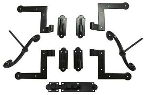 Shutter Hinge (4) Hardware Set Brick Mount with S/Dogs (2) and Slide Bolt