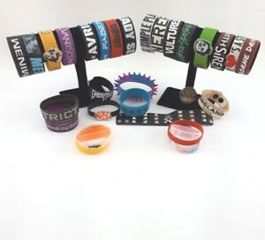 Rubber Silicone Bracelets Choice of Simple Plan Green Day Twilight More