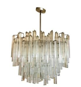 Magnificent Camer Glass Signed  Mid Century Modern Chandelier Made in Italy Rare