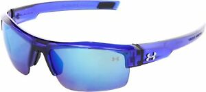 Under Armour Under Armour Igniter Rectangle Sunglasses Dark Crystal Blue Fram...