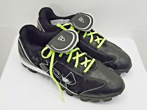 UNDER ARMOUR brand boys or girls cleat athletic shoes for sports 7.5 black   XW2