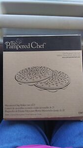 Pampered Chef Microwave Chip Maker-NEW-SETOF 2-(C15)