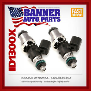 Set of 2 Injector Dynamics id1300.48.14.14.2 fits Can Am Outlander ATV 08