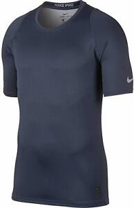 NIKE Pro Men's Dri-Fit Color Burst Fitted T Shirt Tee top Thunder Blue Wolf Grey