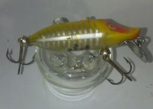Heddon Vintage Tiny Floating Runt Fishing Lure yellow shore Collectible bait