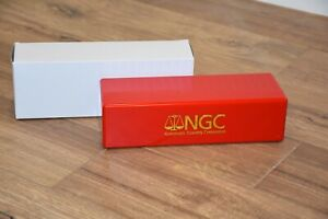 NGC RED amp; GOLD BRAND NEW STORAGE PLASTIC BOX EACH HOLDS 20 NGC CERTIFIED SLABS $16.60