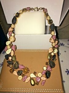 New  Gorgeous Bib Statement Women Multicolor Crystal necklace