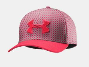 Under Armour UA Mens Golf Hat Cap Fitted MLG Neon Pink 1242636 FAST SHIP! AF4