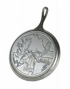 Lodge Wildlife Series - 10.5 Inch Seasoned Cast Iron Griddle with Moose Scene