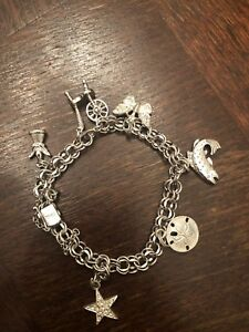 Sterling Silver Charm Bracelet With Sterling Charms