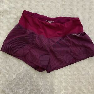 BROOKS RUNNING SHORTSGym workout athletic WOMENS SIZE S Purple