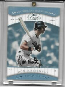 Don Mattingly 2001 Donruss Classics Legend Significant Signatures Card #163