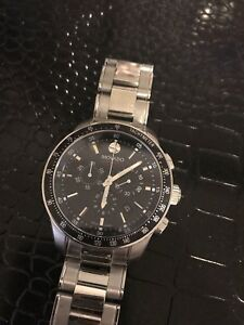Movado Swiss Chronograph Series 800 Stainless Steel Bracelet Watch