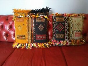 Pair of Fringed Turkish Kilim Pillows