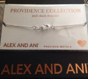 Alex and Ani SEAHORSE Pull Chain Bracelet Sterling Silver NWT And Box