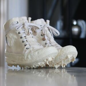 CAROL CHRISTIAN POELL RUBBER DRIP SNEAKERS SHOES BOOTS OBJECT DYED WHITE 10 11