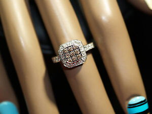 LeVian  Chocolate And Vanilla Diamond Ring In 14-k White Gold