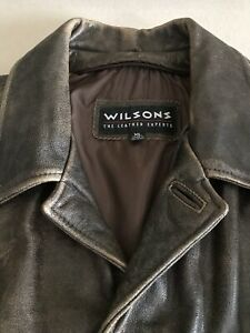 Vintage Rare Wilsons Leather Supernatural Dean Winchester Coat Size XL RN69426