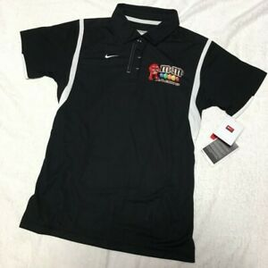 Nike DRI FIT NASCAR Joe Gibbs RACING team Ladies S size m&m's polo shirt racing