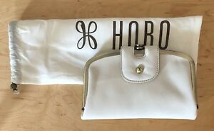 Nwt Women's Hobo International Leather Wallet Halo Magnolia (Off White)