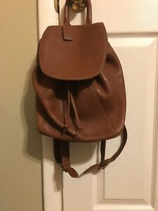 Coach Caramel Leather Pebbled Backpack Purse 4911 Vintage