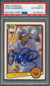 1983 Donruss #277 Ryne Sandberg Signed RC PSADNA Certified Authentic Auto