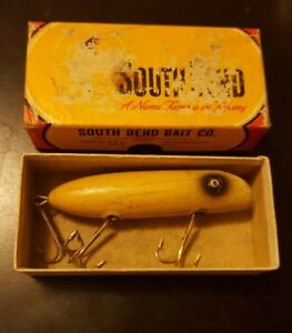 Vintage South Bend Bass Oreno 973 YP with Tough Lure scarce nice collectible