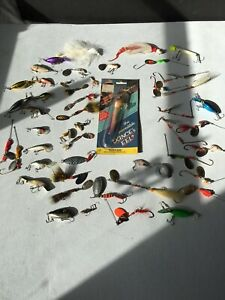 Lot Vintage Freshwater Lures Musky Spoons Mepps Martin Italy Erie Dearie Rapala